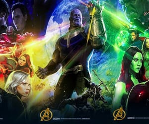 Marvel, infinity war, and poster image