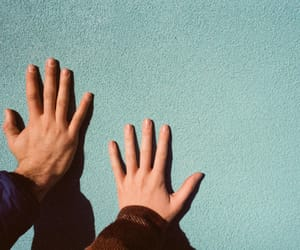 hands, tumblr, and blue image