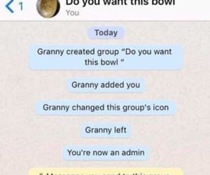 bowl, funny, and grandma image
