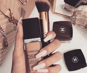 nails, chanel, and makeup image