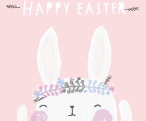 bunny, pink, and easter image