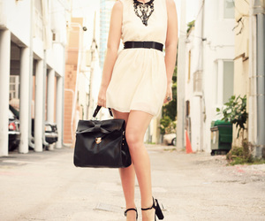 bag, belt, and black and white image