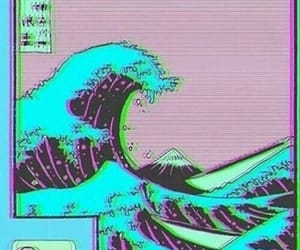 waves, vaporwave, and aesthetic image