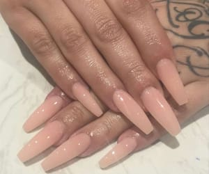 gel, Nude, and nude nails image
