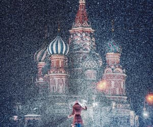 girl, night, and moscou image