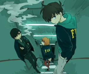 detective conan, conan edogawa, and shiho miyano image