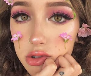 beauty, girl, and makeup image