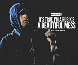 a beautiful mess, eminem, and life image