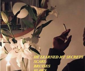 flowers, grunge, and smoke image