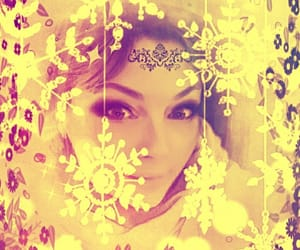 gold, snowflakes, and pixlr image