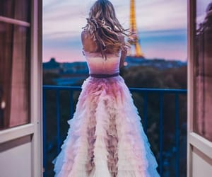 paris, dress, and blonde image