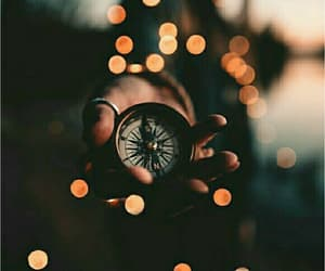 compass, light, and photography image