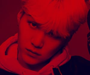 aesthetic, red, and bts image