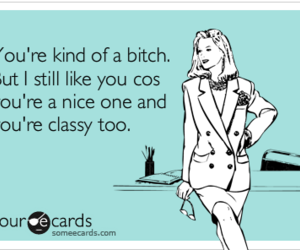 bitch, classy, and funny image