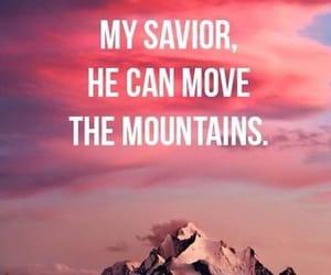 god, mountains, and jesus image
