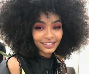 black girl, makeup, and melanin image