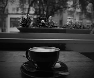 black&white and coffee image