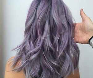beautiful, hair, and purple hair image