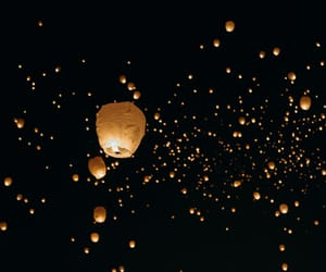 floating, lanterns, and lights image
