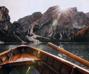 canoe and nature image