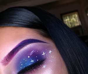 makeup, beauty, and galaxy image