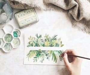 art, green, and drawing image