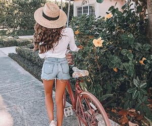 bike, model, and fashion image