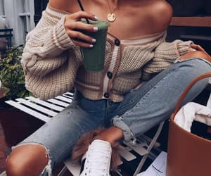 fashion, coffee time, and looks image