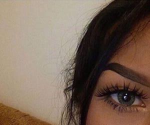 eyebrows, eyes, and girl image