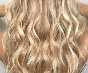 blond, gold, and locks image