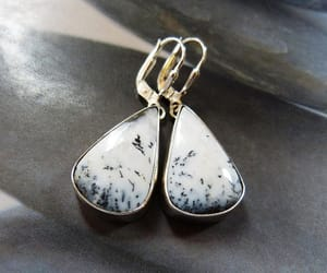 black and white, statement earrings, and etsy image