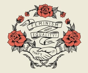 feminist, rose, and eguallity image