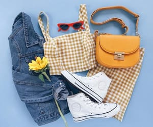 bag, blue, and converse image