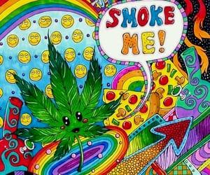 weed, smoke, and marijuana image