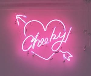 cheeky, heart, and pink image