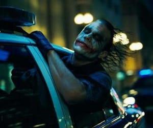 joker, heath ledger, and batman image