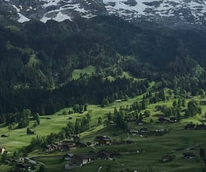 green, mountain, and photography image