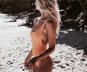 beach, bikini, and summer image