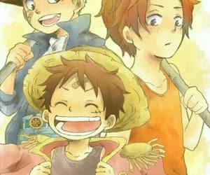 ace, sabo, and one piece image