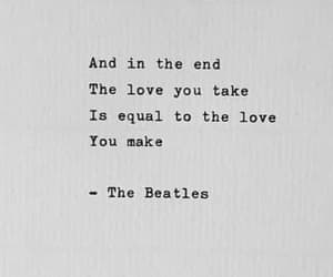 quotes, love, and the beatles image