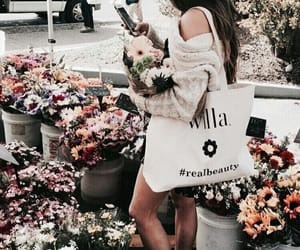 flowers, girl, and indie image