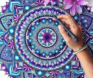 art, colors, and mandalas image