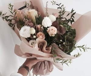 flowers, bouquet, and rose image