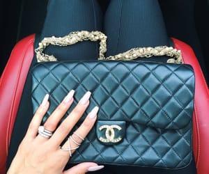 nails, chanel, and bag image
