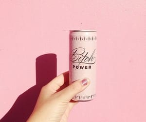 bitch, drink, and pink image