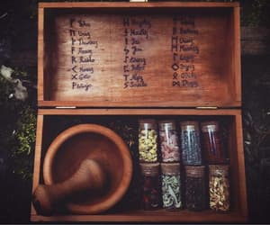 box, herb, and incense image