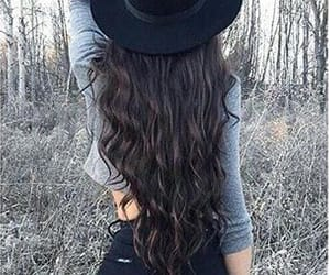 hair, black, and hat image