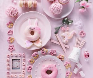 fleur, lapin, and rose image