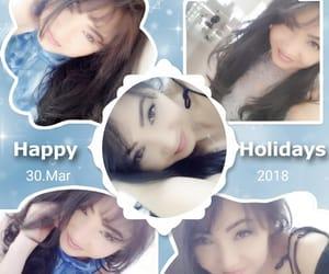 april, girl, and holidays image