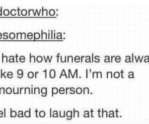 funerals, funny, and hilarious image